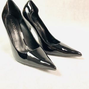 ALDO • Black Patent Leather Stiletto Heels